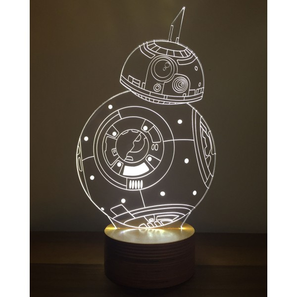 3D Star Wars BB-8 Lamp