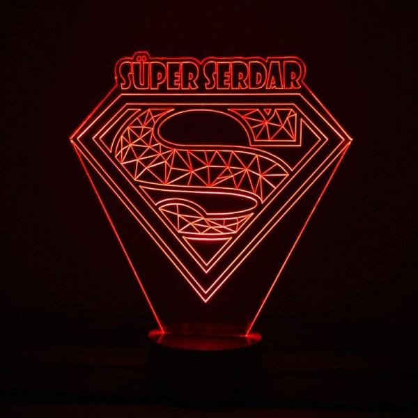 3D Superman Lamp