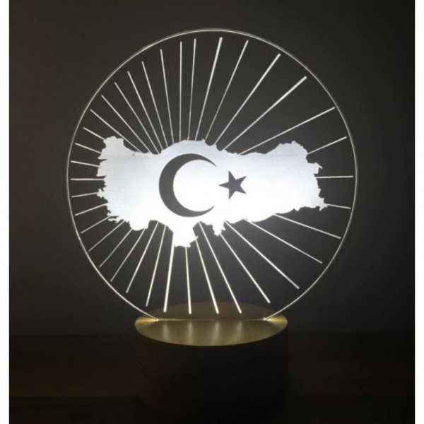 3D Turkey Map Lamp