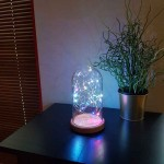 Colored Lighted Bell Glass Lamp