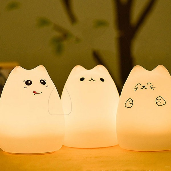 Baby Room Cute Cat Lamp