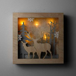 Deer Wood Led Light Board