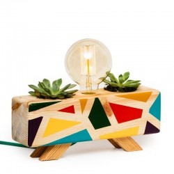 Multi Color Cactus Table Lamp