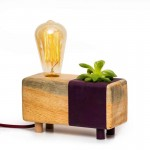 Purple Cactus Table Lamp