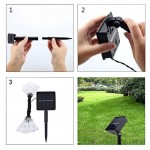Solar Powered Water Drop LED Lamp