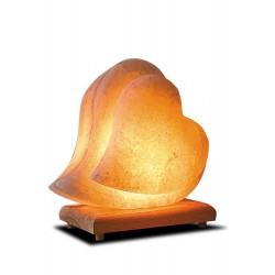 Double Heart Salt Lamp