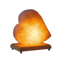 Serrated Heart Salt Lamp